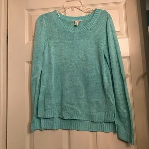 Teal sweater!
